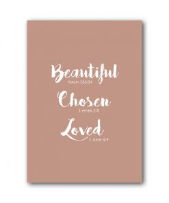 A6 Kaart - Beautiful Chosen Loved