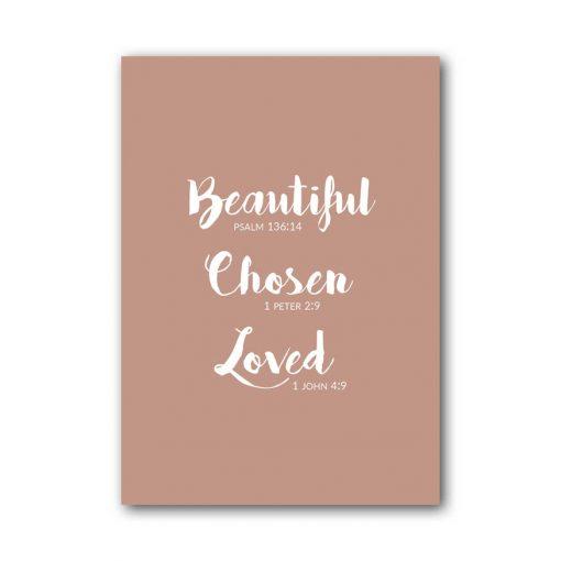 A6 Kaart - Beautiful Chosen Loved